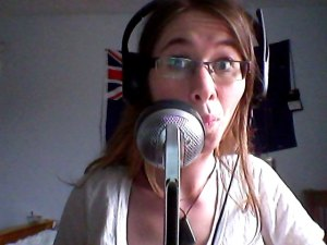 Making friends with Nessie (yes, my mic has a name. It is Nessie).