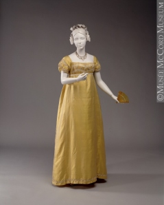 1810s dress, courtesy the McCord Museum/Musee McCord: http://www.mccord-museum.qc.ca/en/
