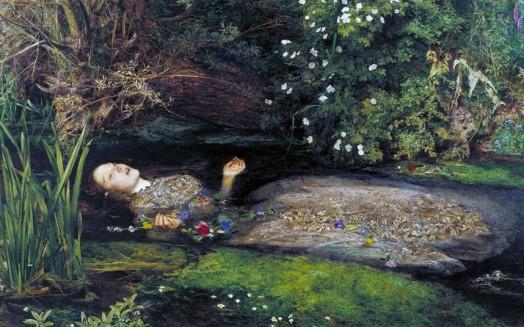 """Ophelia,"" John Everett Millais, 1851-52."