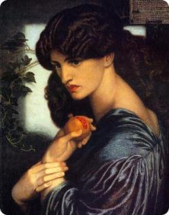 """""""Proserpine,"""" Dante Gabriel Rossetti, 1882."""