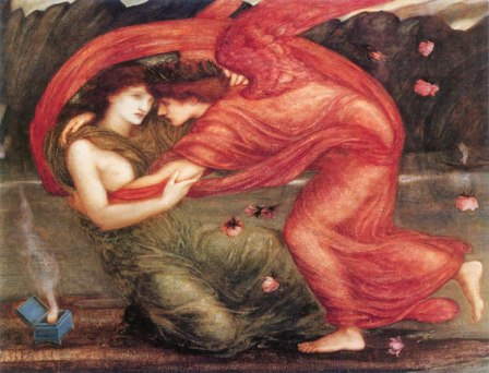 """Cupid Delivering Psyche,"" Edward Burne-Jones, 1867."