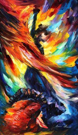 """Fire Dance,"" by Leonid Afremov. The colours, the movement...this is how I picture dancing like no one's watching."