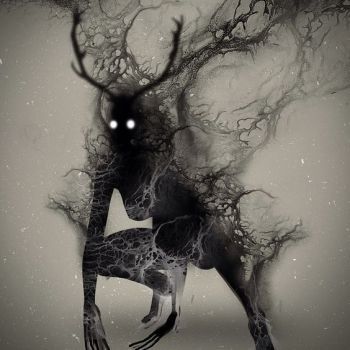 Wendigo? Art by Onki Dayan. Found here: https://www.pinterest.com/pin/401172279286144735/