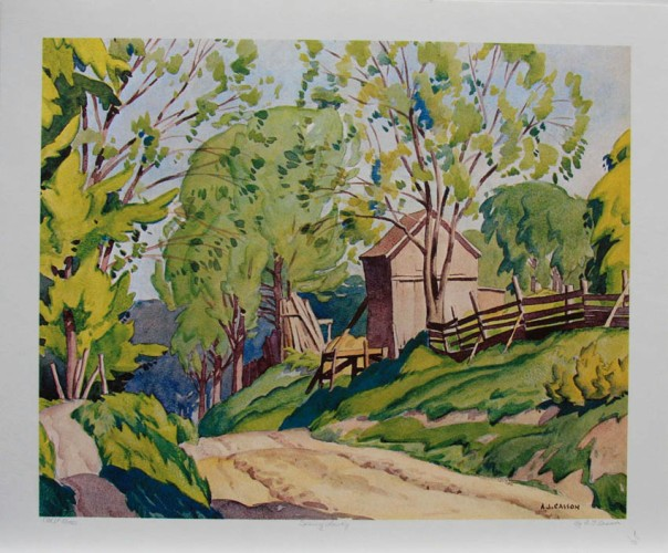 "It *is* nice to see the light chance and the light return...A.J. Casson, ""Spring, Lasky, 1932."""