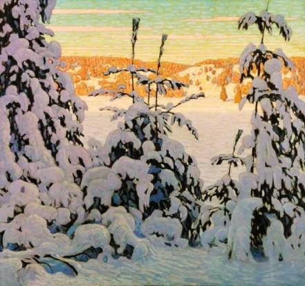 """A Canadian winter... Lawren Harris, """"Snow II"""" (1915)."""