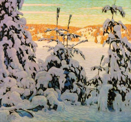 "A Canadian winter... Lawren Harris, ""Snow II"" (1915)."