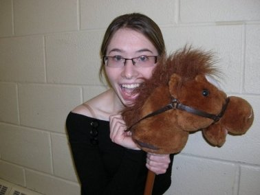 17-yo KT. With a horse.