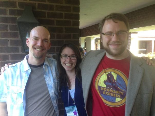 Balticon 2015: I ADORE these gentlemen. And Alex White (on the right) composed the theme for SIX STORIES, TOLD AT NIGHT.
