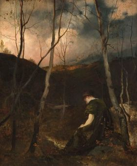 """Autumn Evening,"" Eilif Peterssen (1878)"