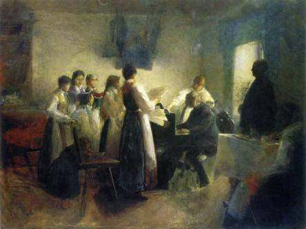 """The Village Choir,"" Anton Azbe (1900)."