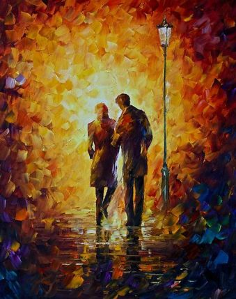 """Come Together,"" Leonid Afremov (https://afremov.com/)"