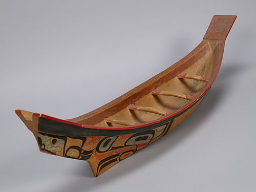Tluu/Model Canoe, by Charles Edenshaw (Haida). Courtesy the University of British Columbia Museum of Anthropology, photographed by Derek Tan.
